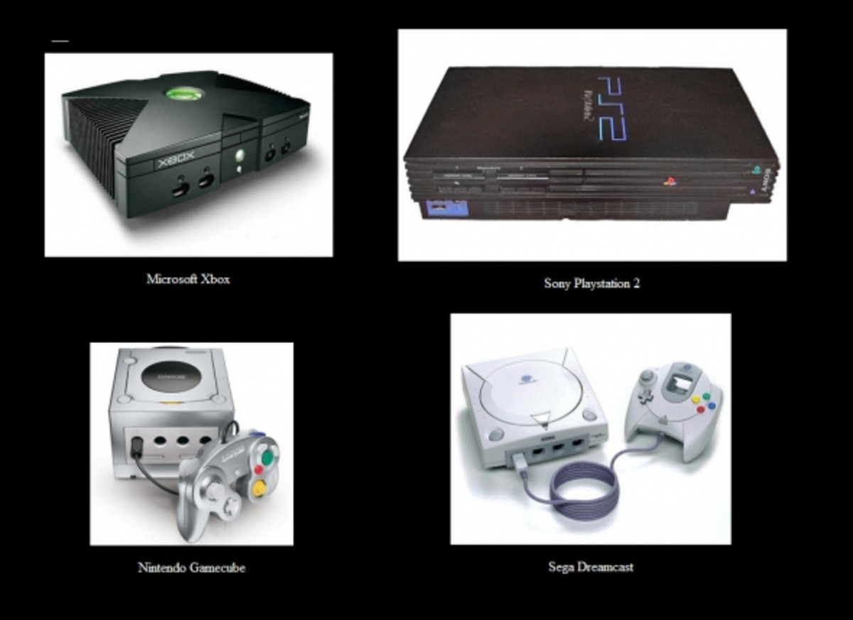 The four consoles of the sixth generation.