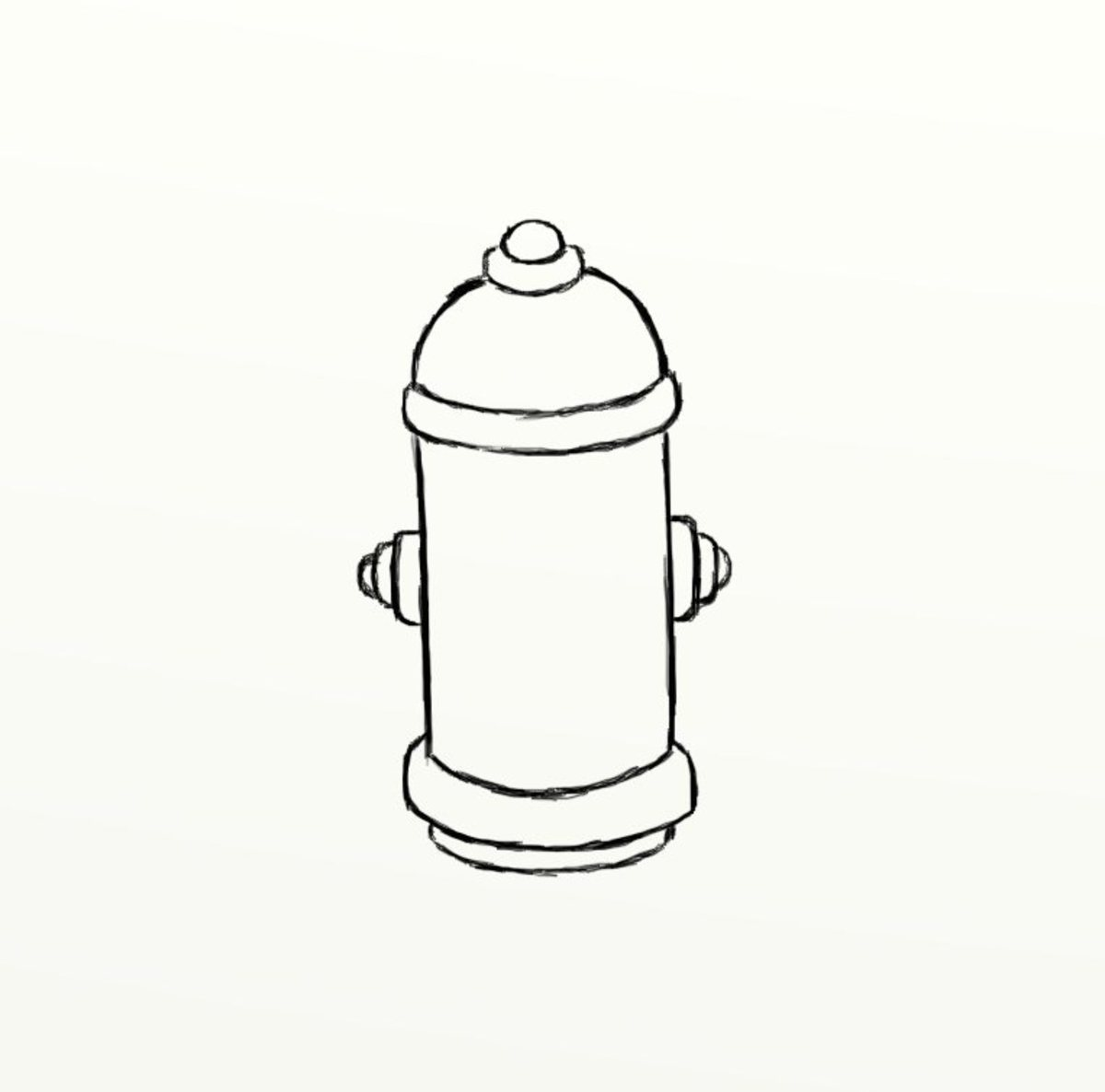 how to draw a fire hydrant