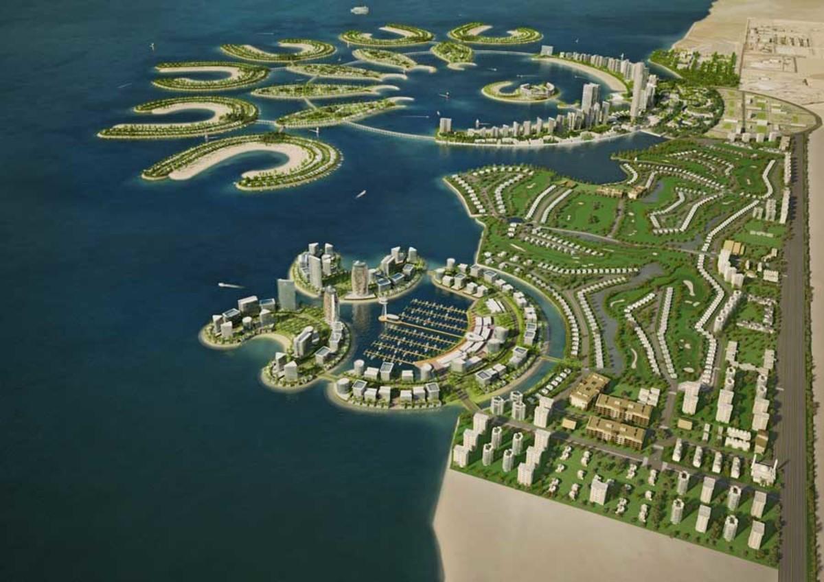Durrat Al Bahrain, the largest artificial island in Bahrain after the Amwaj Islands.