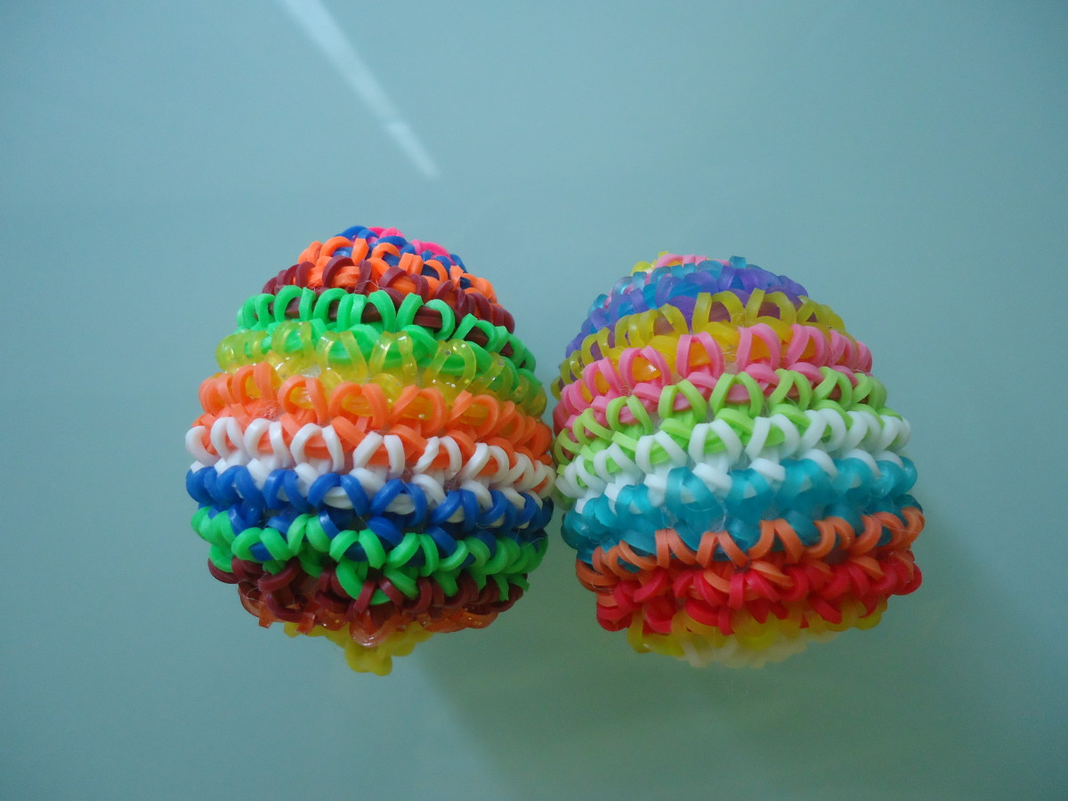 How to Make a Rubber Band Easter Egg Without a Loom