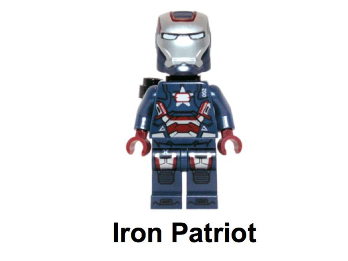 LEGO Super Heroes Gun Mounting System 30168 Iron Patriot Minifigure