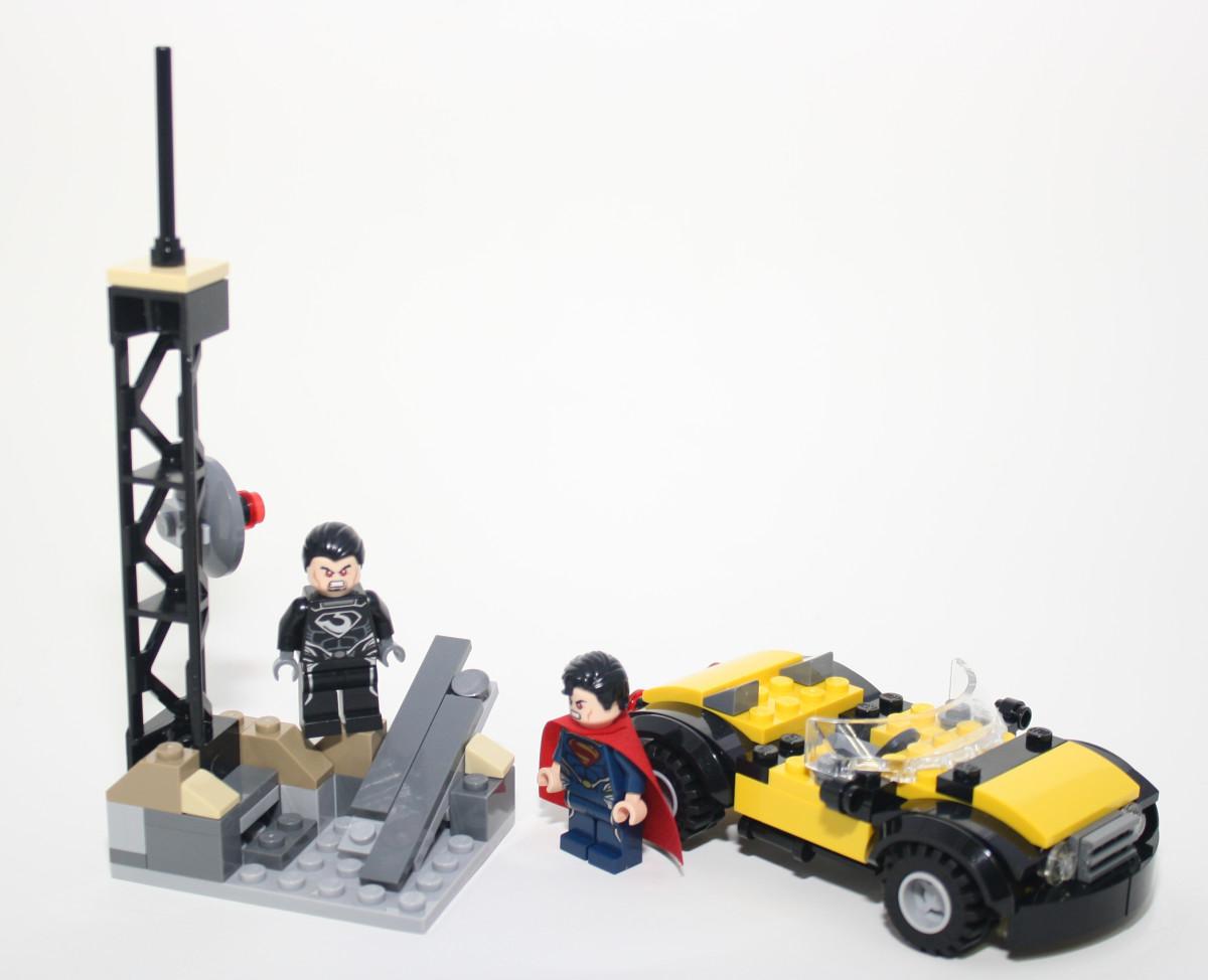 LEGO Super Heroes Superman Metropolis Showdown 76002 Assembled
