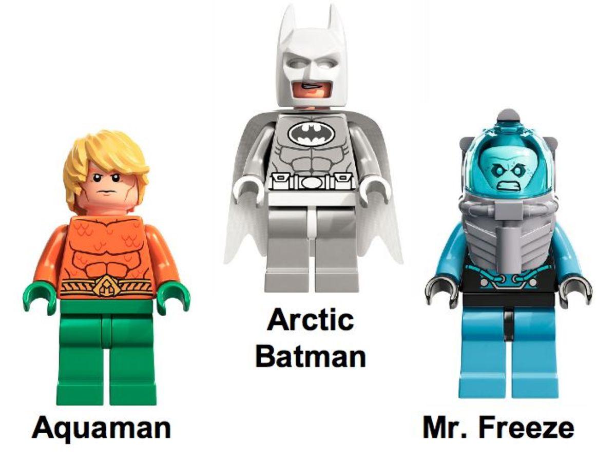 LEGO Super Heroes Arctic Batman vs Mr. Freeze: Aquaman on Ice 76000 Minifigures