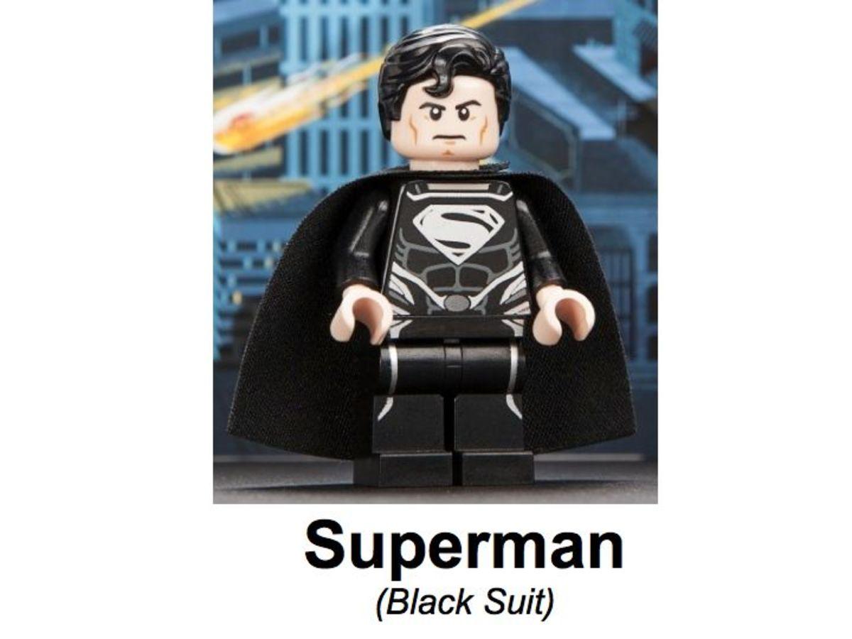 LEGO Super Heroes Superman Black Suit Minifigure SDCC 2013