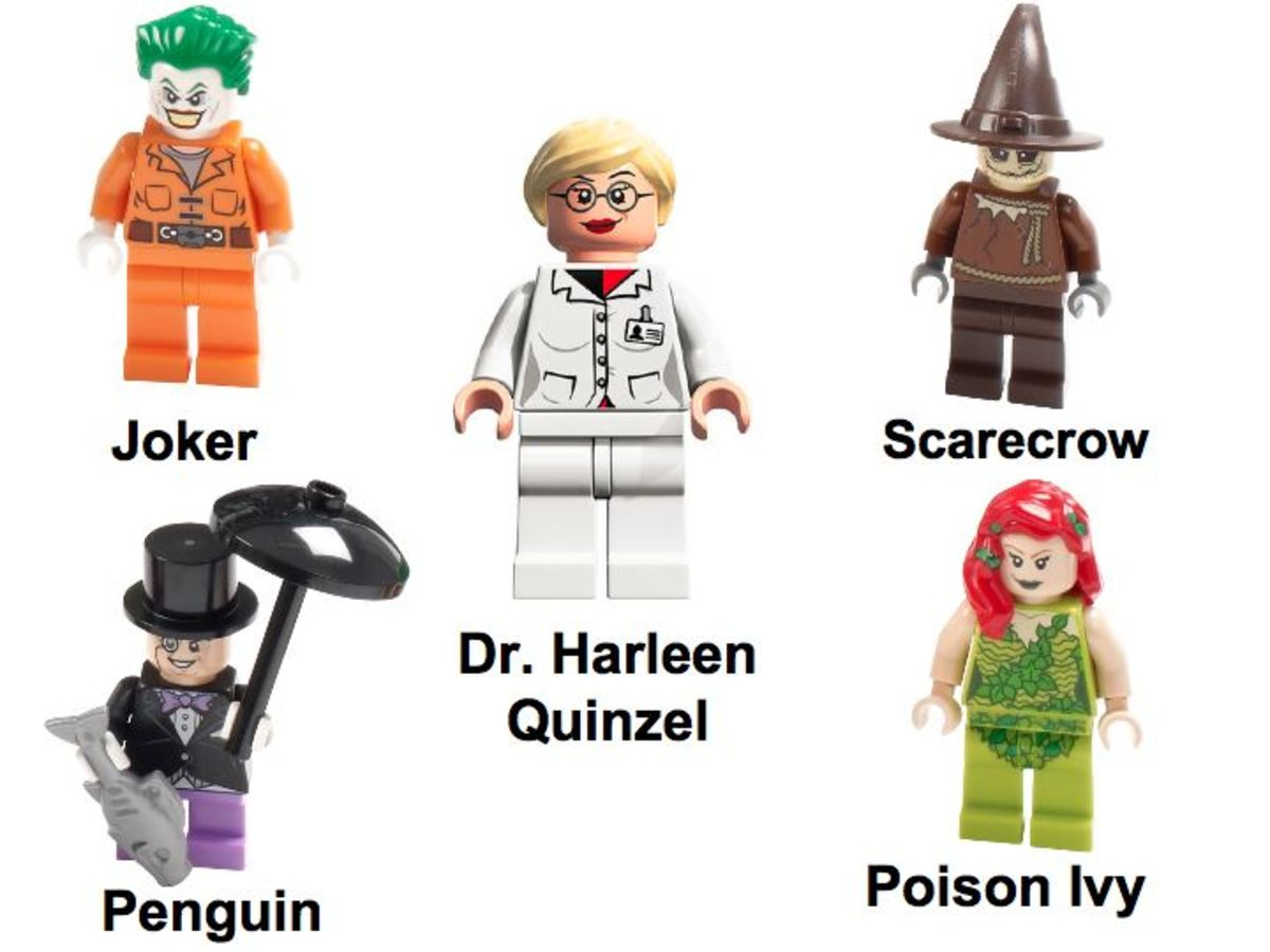 LEGO Super Heroes Batman Arkham Asylum Breakout 10937 Minifigure Villains