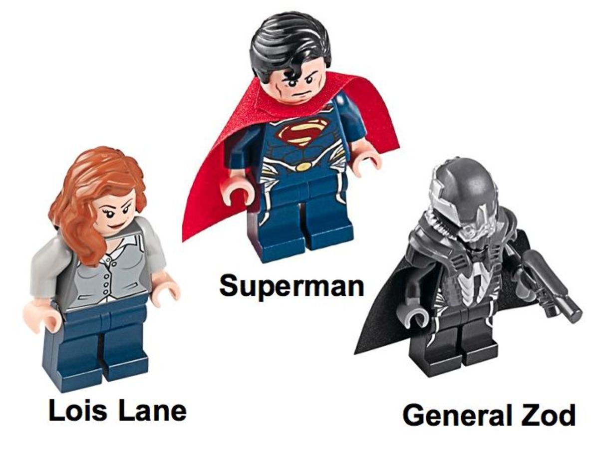 LEGO Super Heroes Superman Black Zero Escape 76009 Minifigures