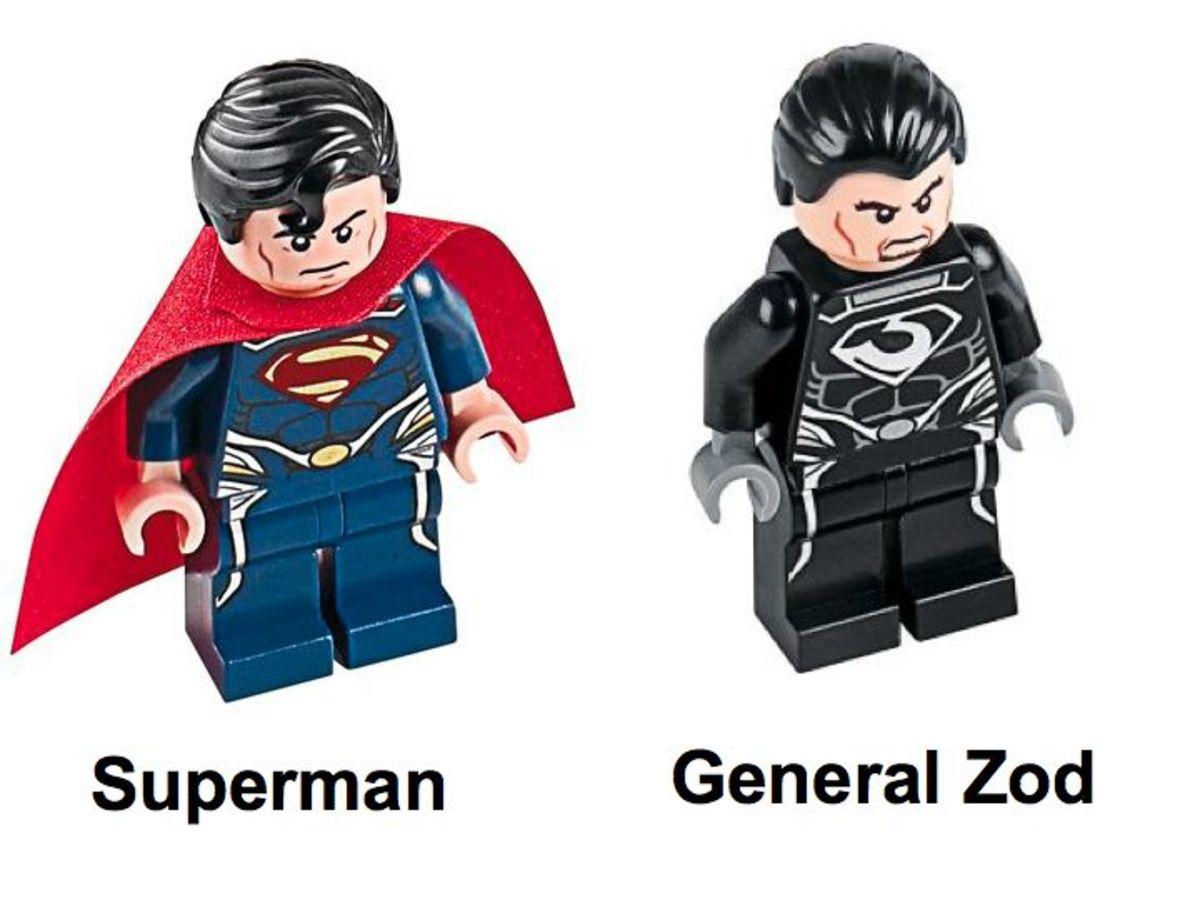 LEGO Super Heroes Superman Metropolis Showdown 76002 Minifigures