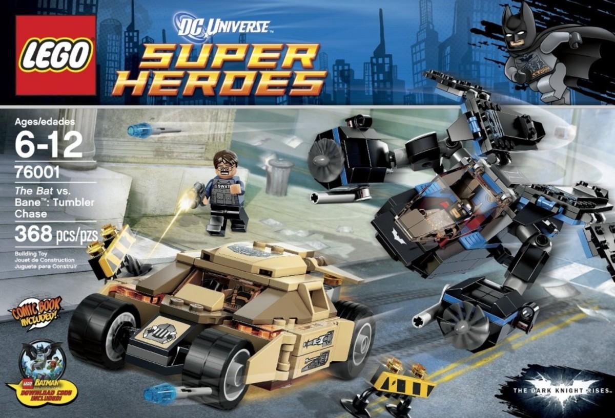 LEGO Super Heroes The Bat vs Bane: Tumbler Chase 76001 Box