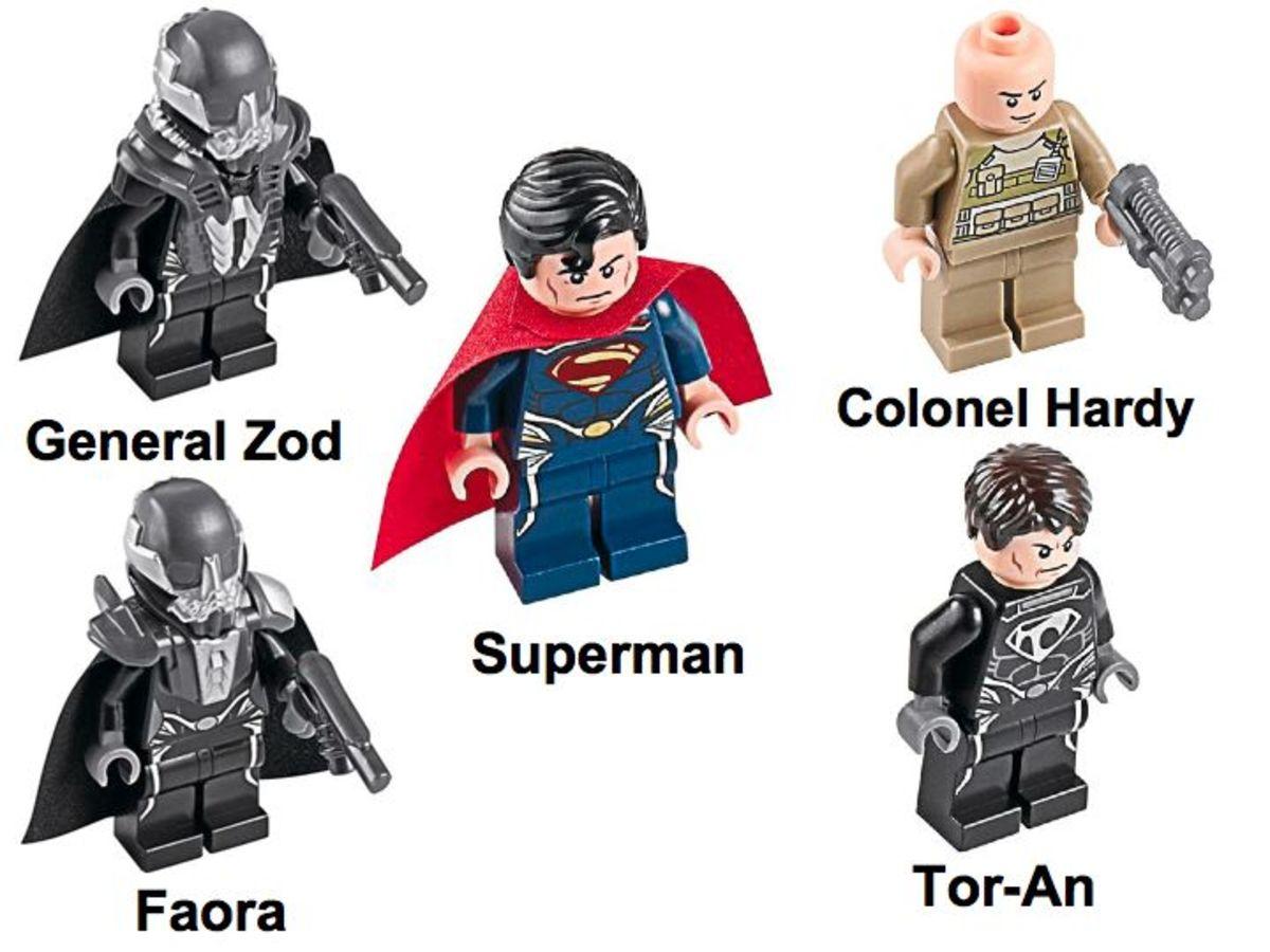 LEGO Super Heroes Superman Battle of Smallville 76003 Minifigures