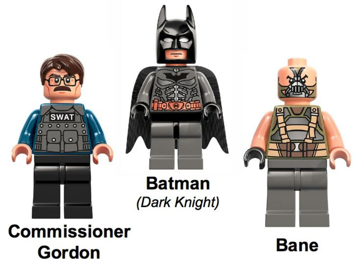 LEGO Super Heroes The Bat vs Bane: Tumbler Chase 76001 Minifigures