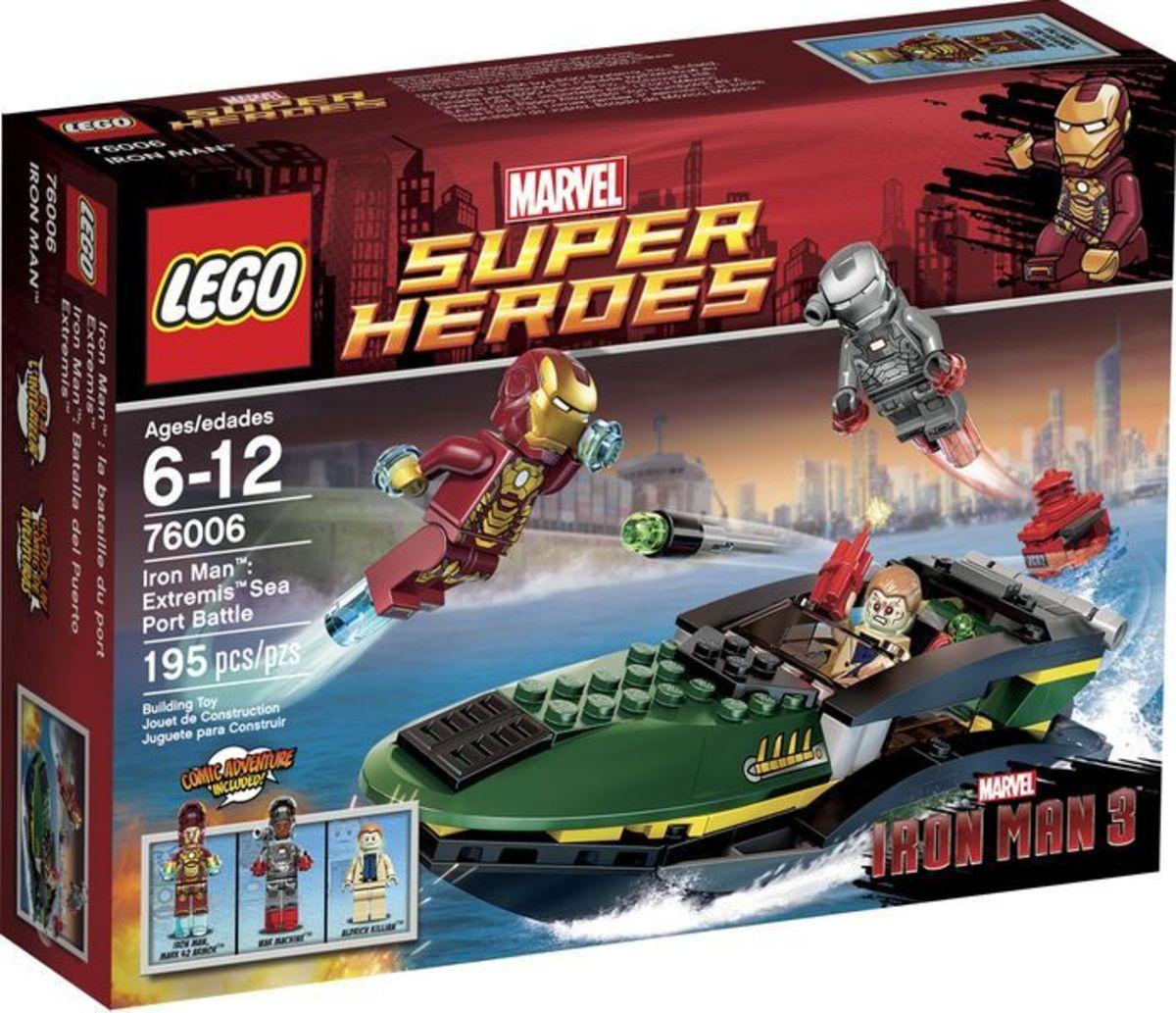 LEGO Super Heroes Iron Man: Extremis Sea Port Battle 76006 Box