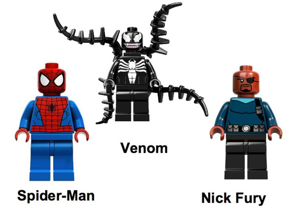 LEGO Super Heroes Spider-Man: Spider-Cycle Chase 76004 Minifigures
