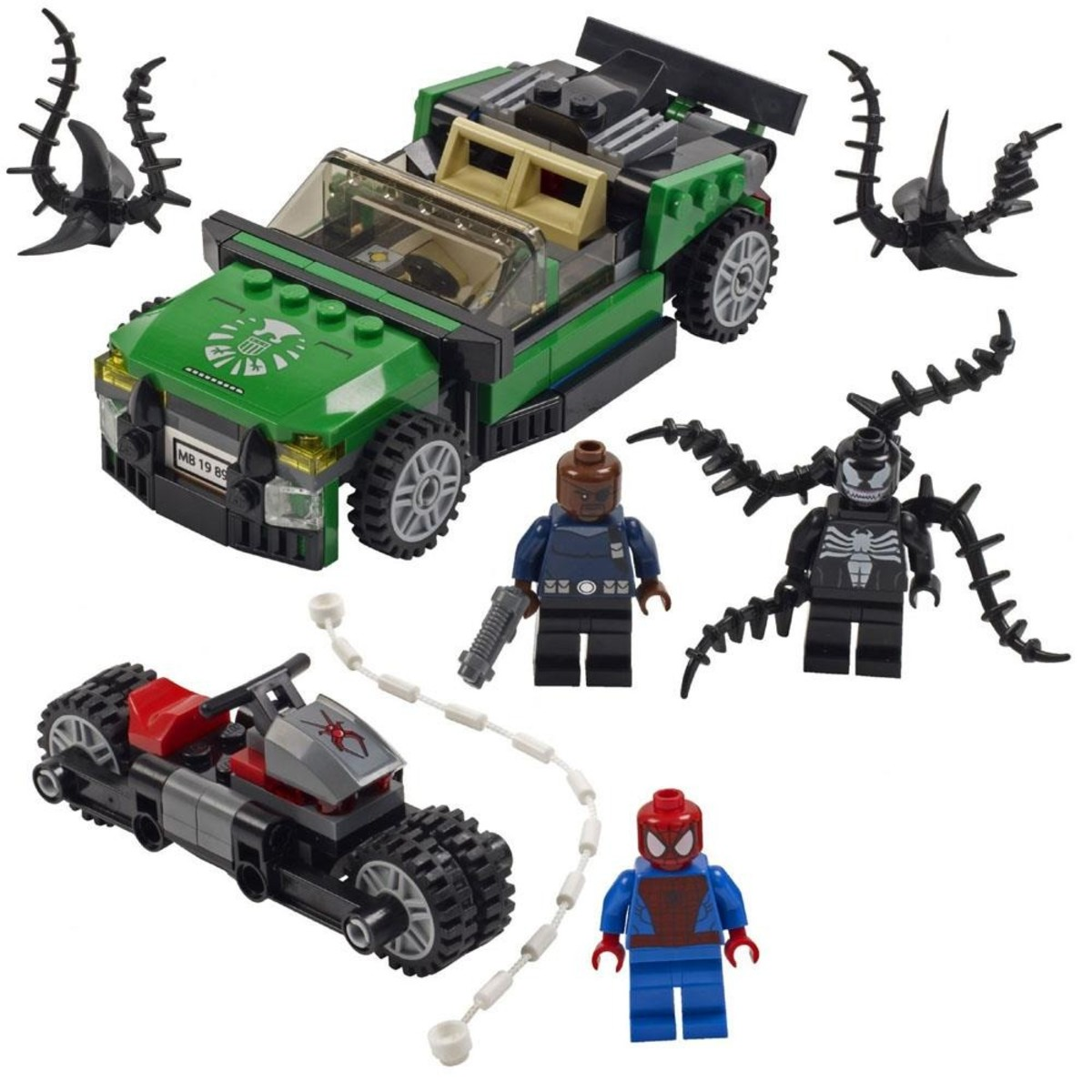 LEGO Super Heroes Spider-Man: Spider-Cycle Chase 76004 Assembled