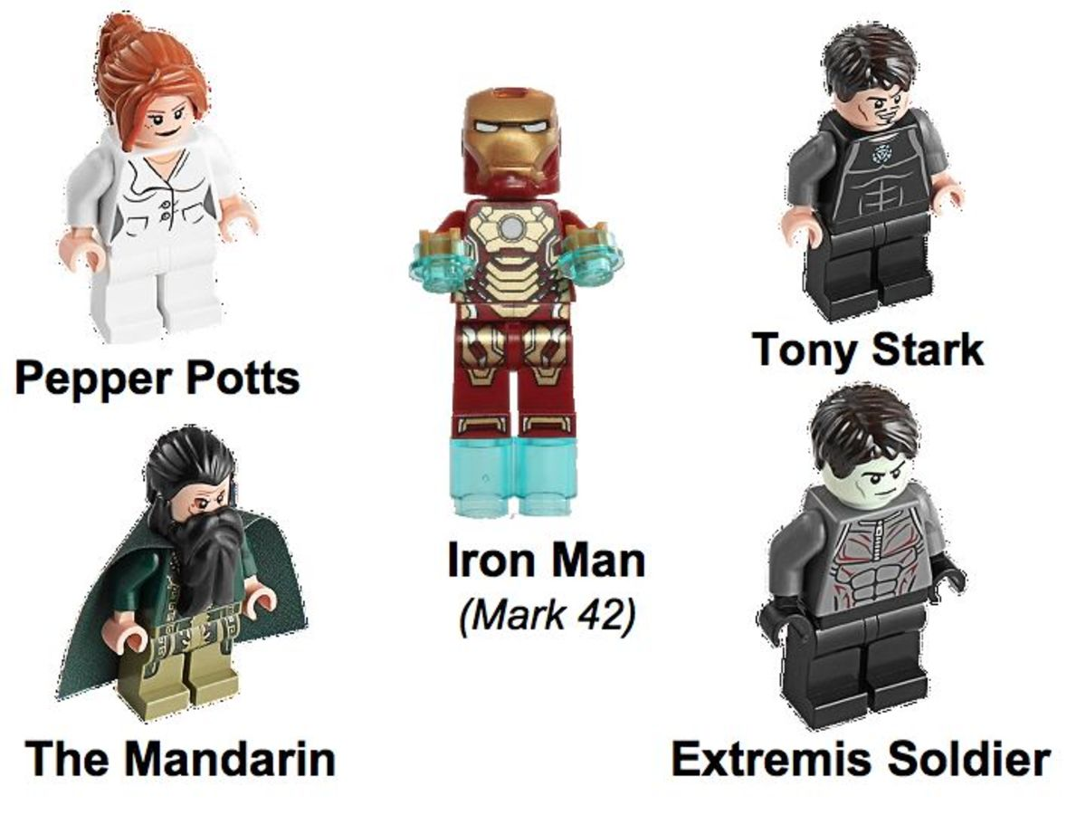 LEGO Super Heroes Iron Man: Malibu Mansion Attack 76007 Minifigures