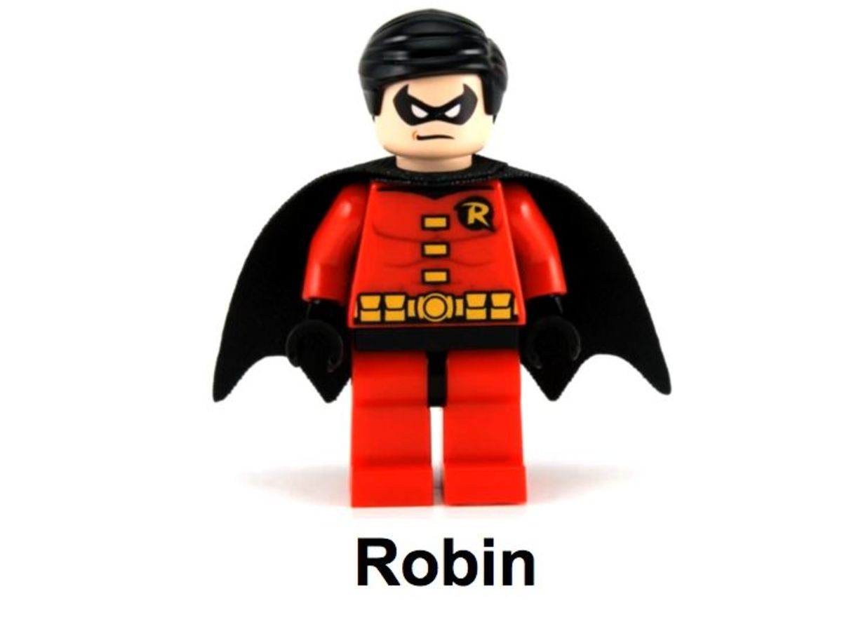 LEGO Super Heroes Robin and Redbird Cycle 30166 Robin Minifigure