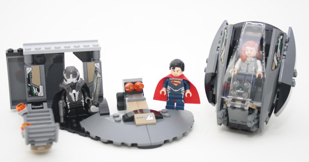 LEGO Super Heroes Superman Black Zero Escape 76009 Assembled
