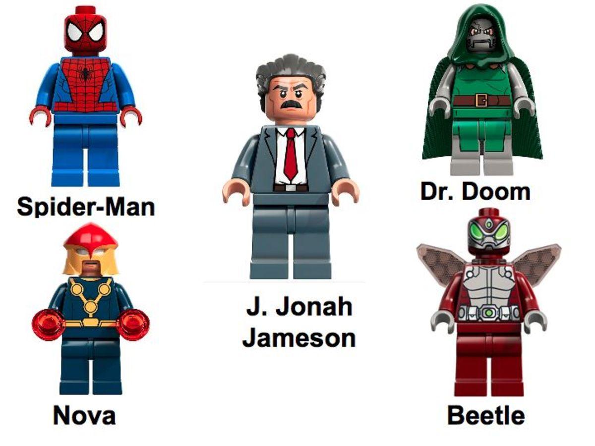 LEGO Super Heroes Spider-Man: Daily Bugle Showdown 76005 Minifigures