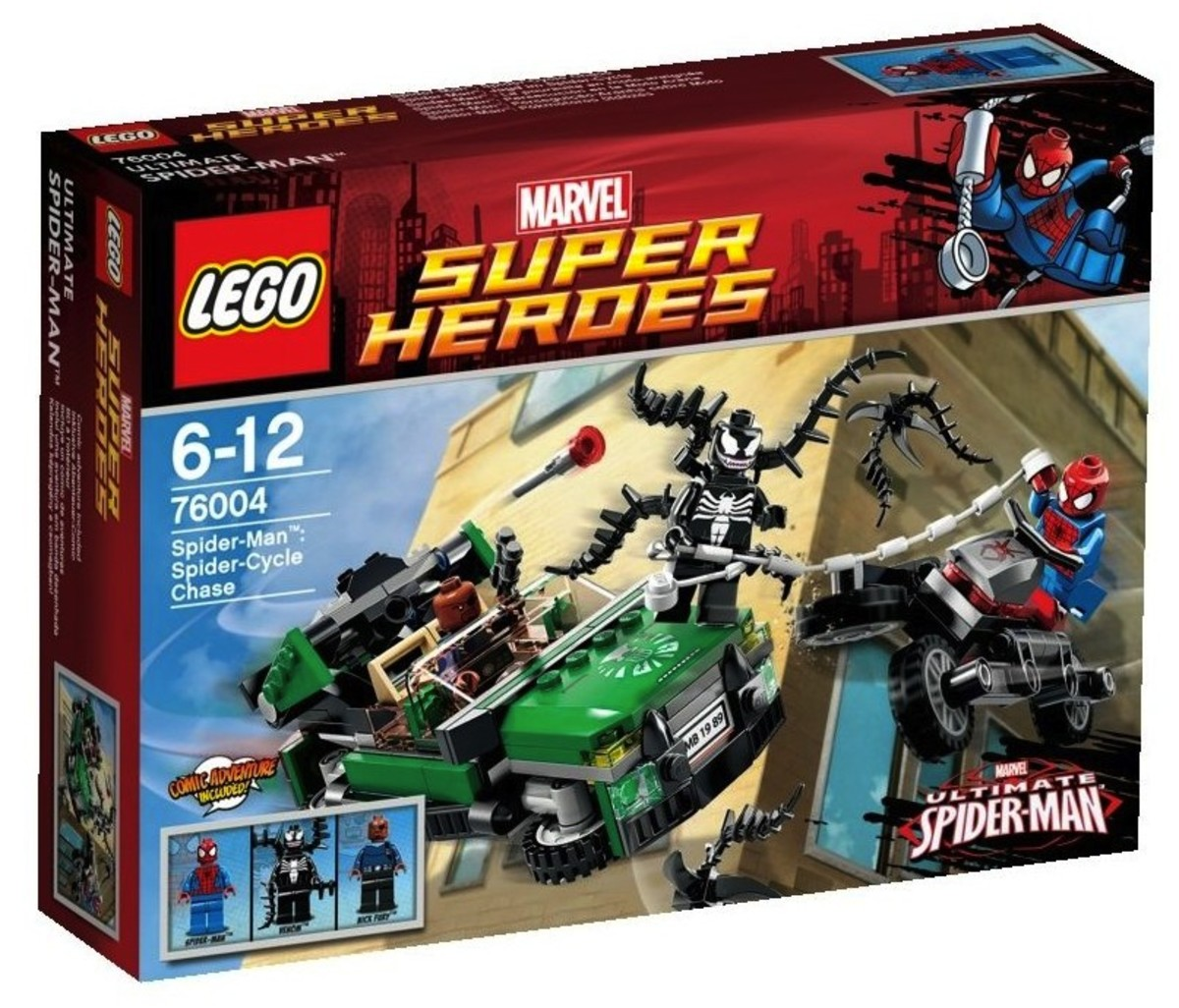 LEGO Super Heroes Spider-Man: Spider-Cycle Chase 76004 Box