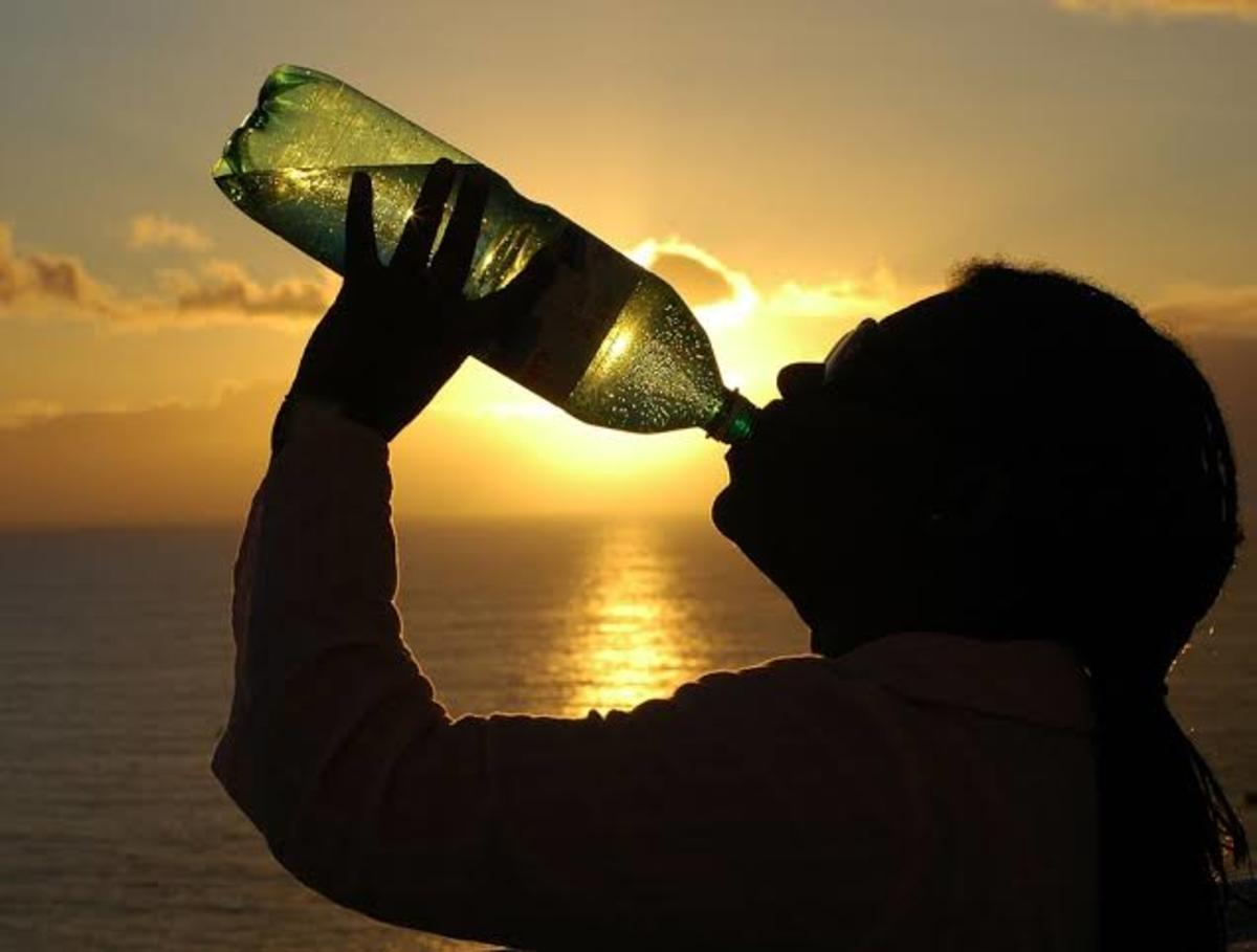 Drink enough water, to keep yourself hydrated, during the summer heat