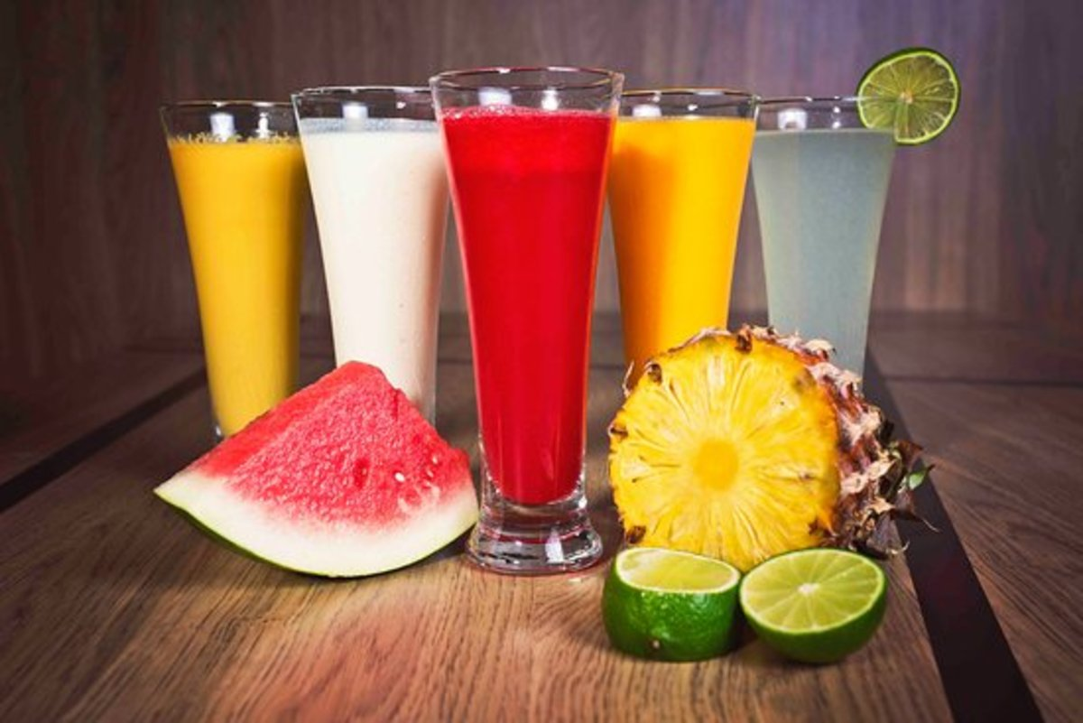 Keep yourself hydrated, with fruits and vegetables and their juices
