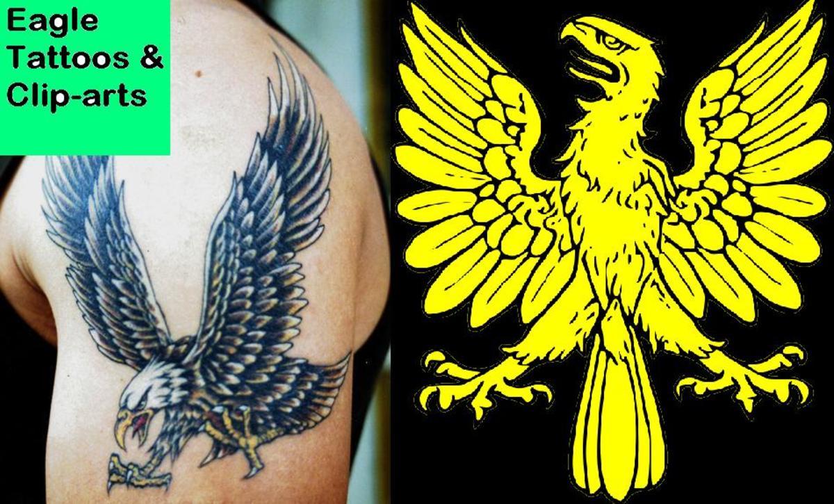 36 Eagle Tattoo Ideas for Men and Women + 42 Eagle Clip arts and Logos