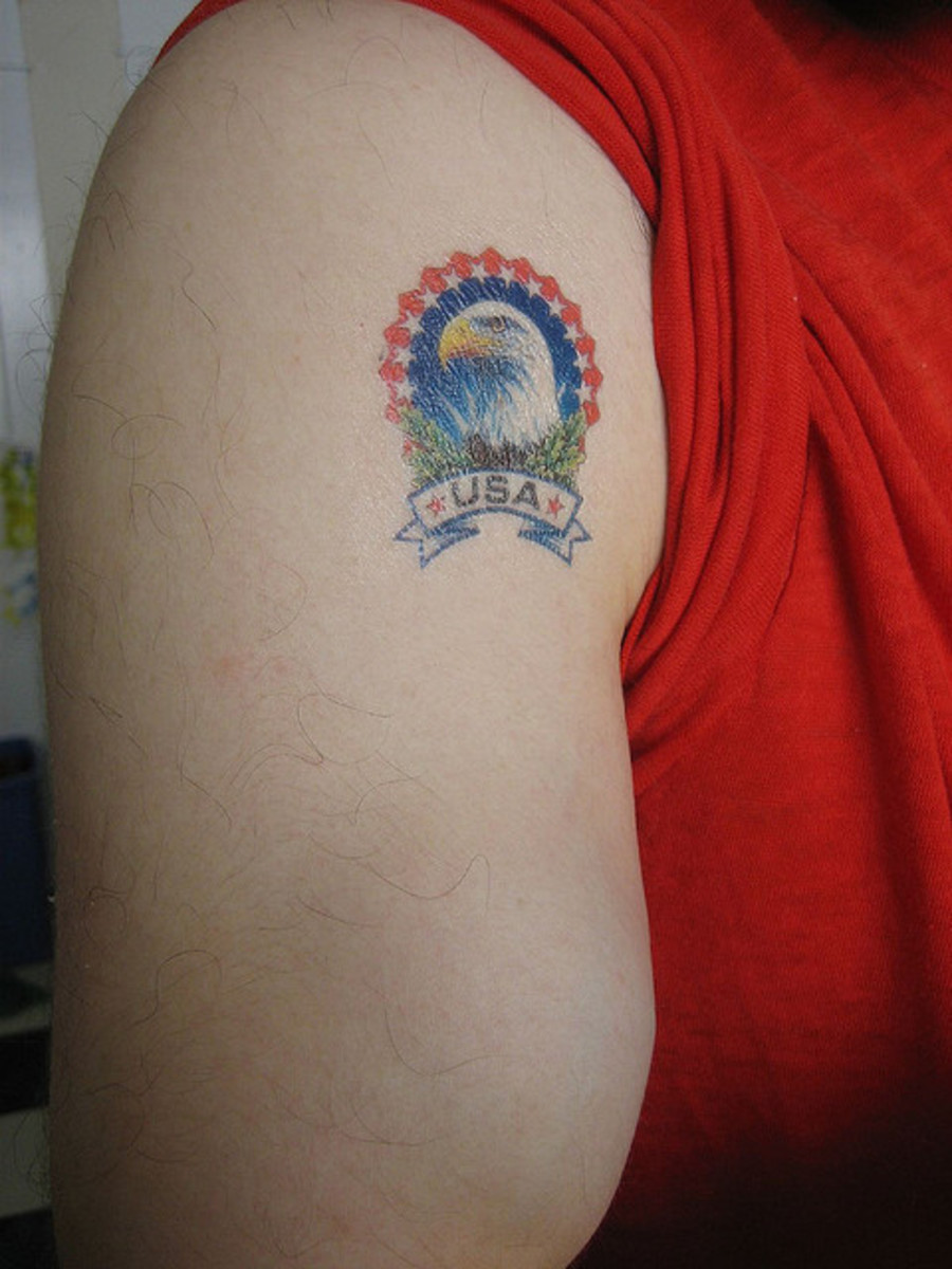 Small Eagle Tattoo Image