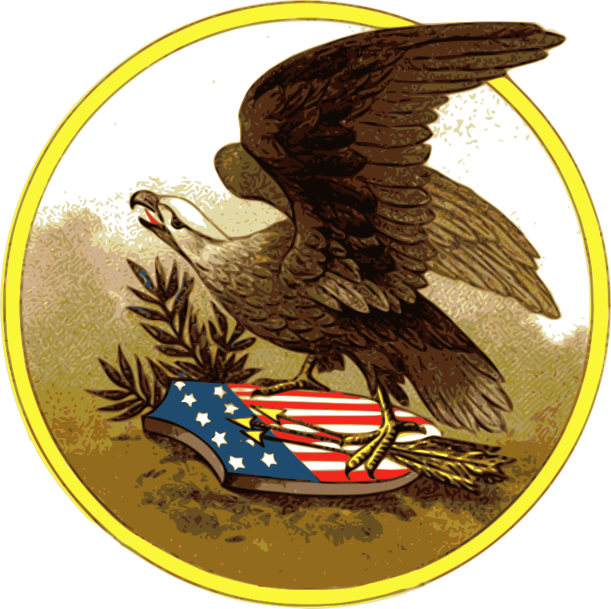 Patriotic American Eagle Clip Art