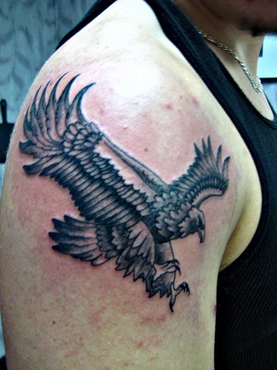 Beautiful Eagle Tattoo Image