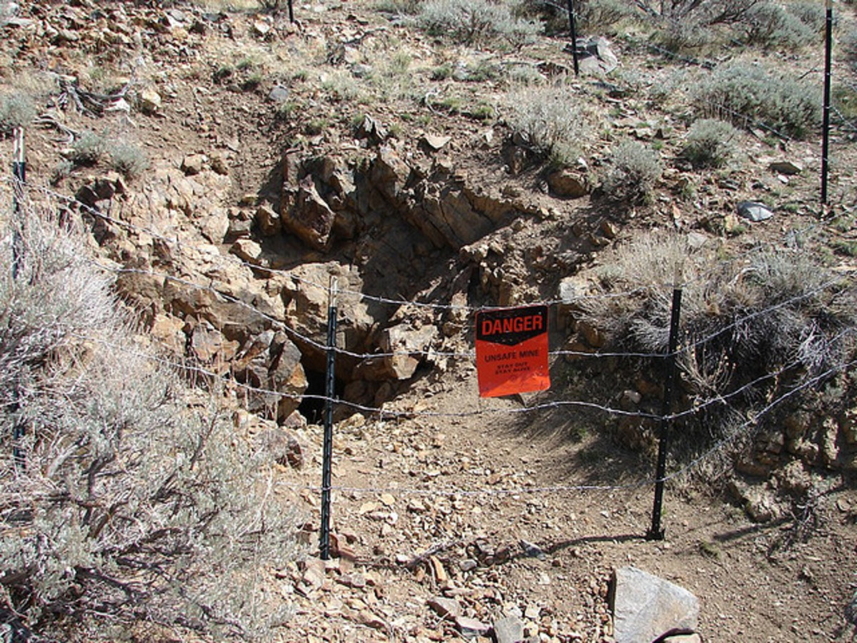 An abandoned gold mine in Nevada.