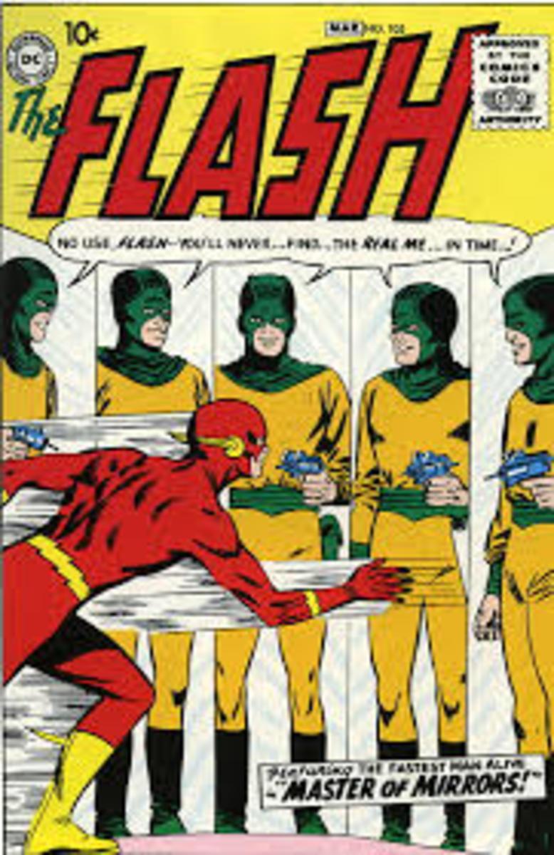 Flash battles the Mirror Master.