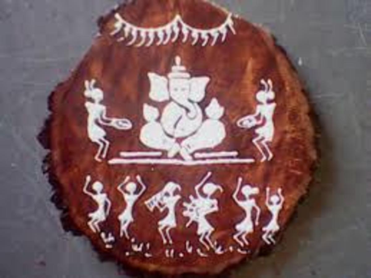 Warli paintings are painted white on mud walls.
