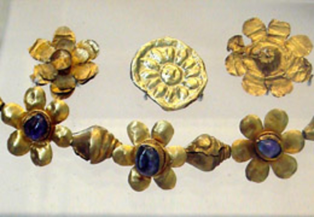 Ancient Jewelry of Kushan period in 2nd century AD