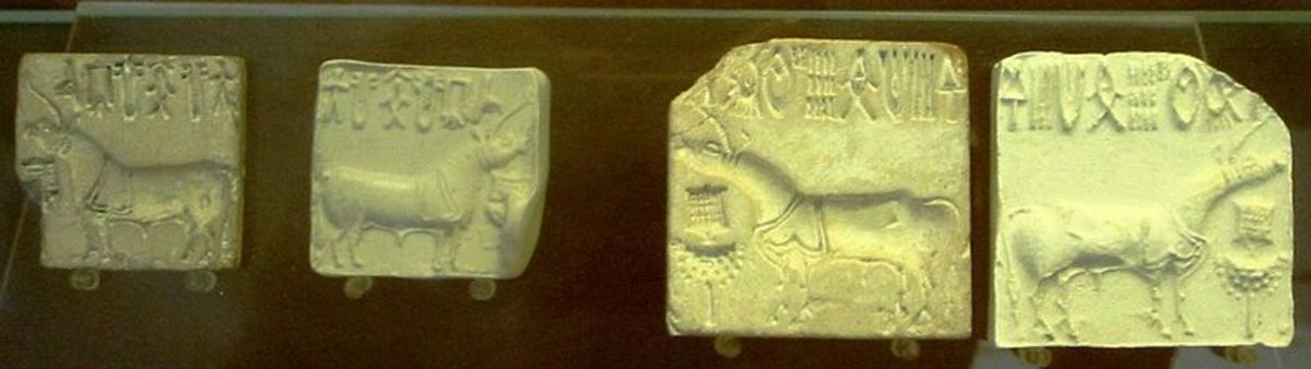 Indus valley seals showing unicorns