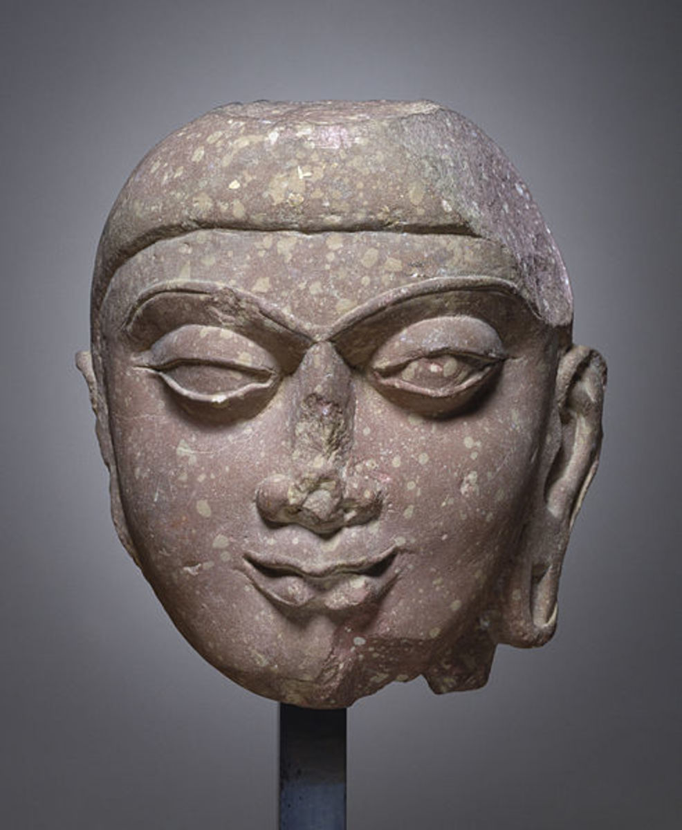 Head, Probably of the Buddha of  2nd centuryAD  Kushan period