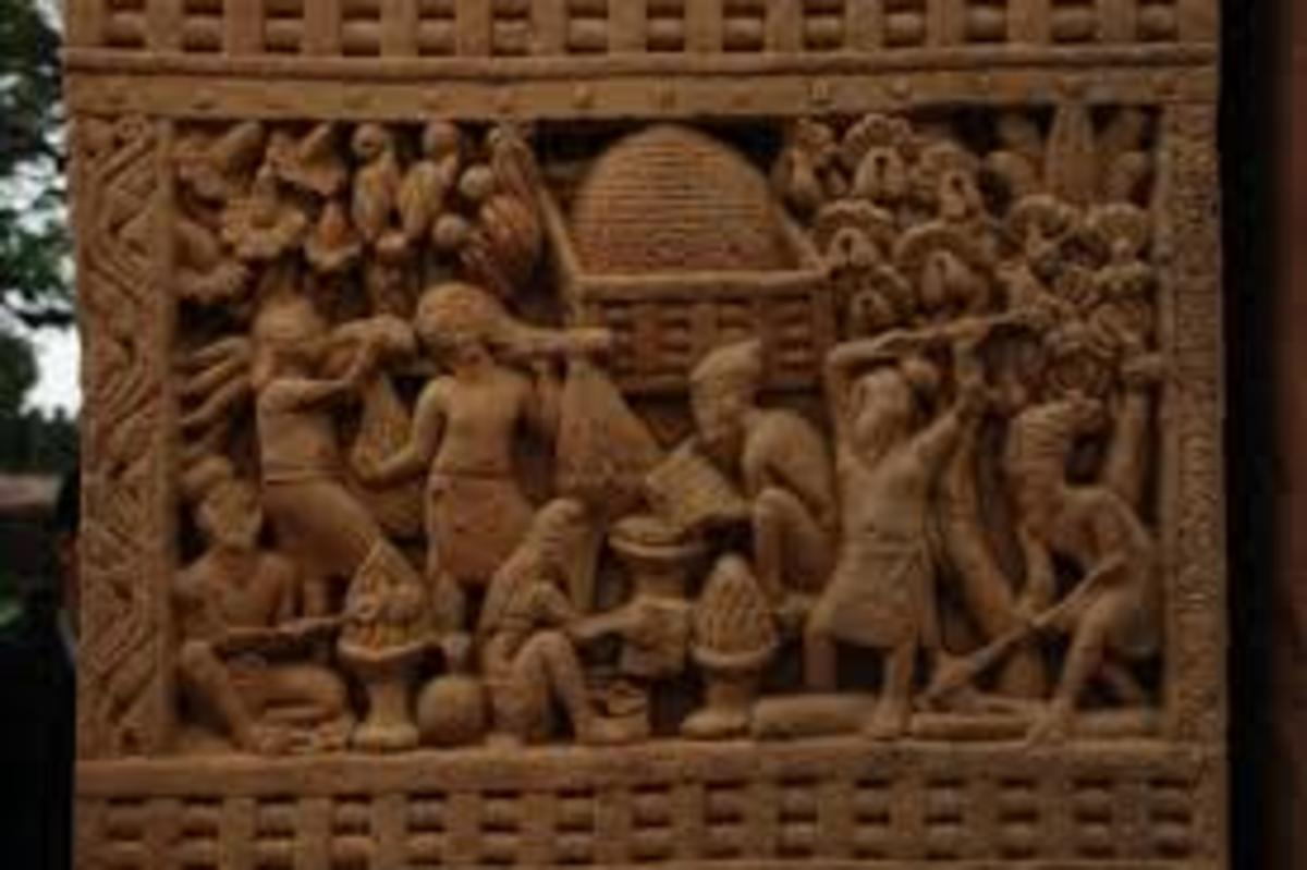 Carvings on the Sanchi Gate