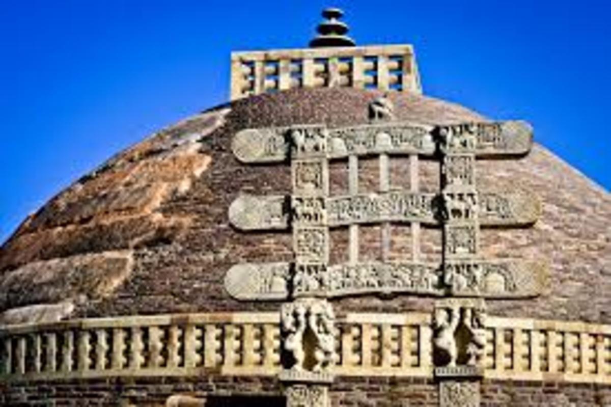 Sanchi stupa.