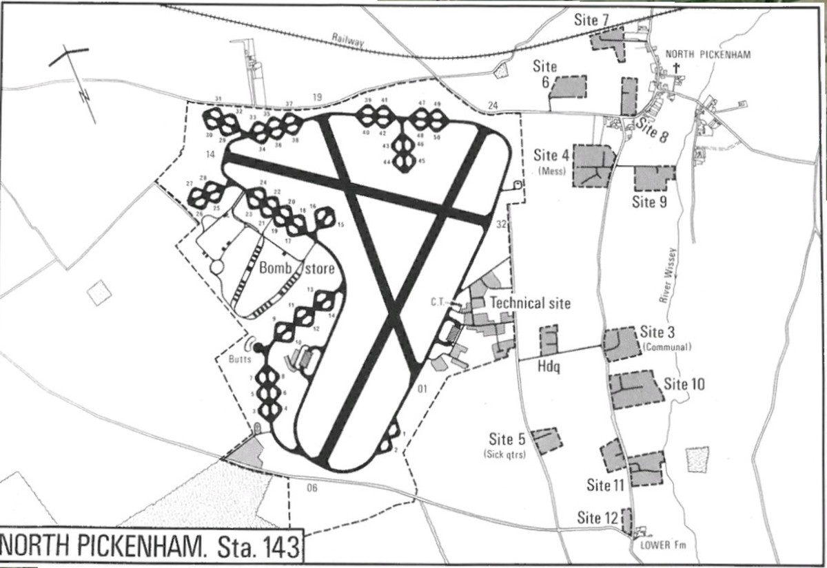Diagram of North Pickemham Air Base.