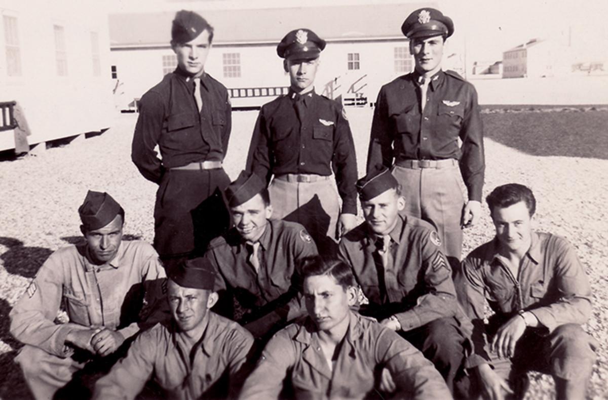 The Bowman Crew.  James Bowman rear row far right.