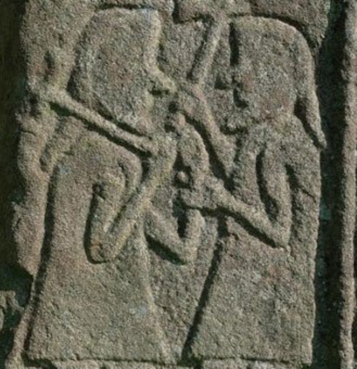St. Vigeans Stone - carvings by the Picts.