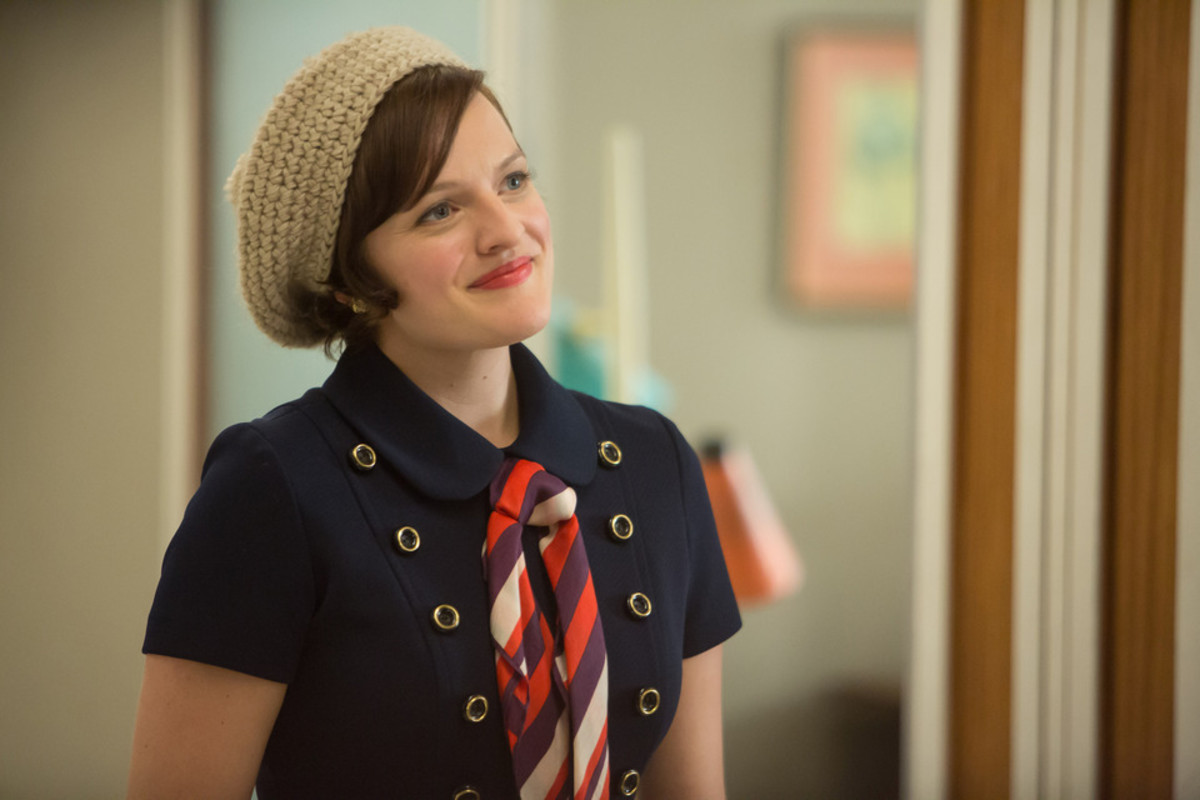 Peggy Olson smiling