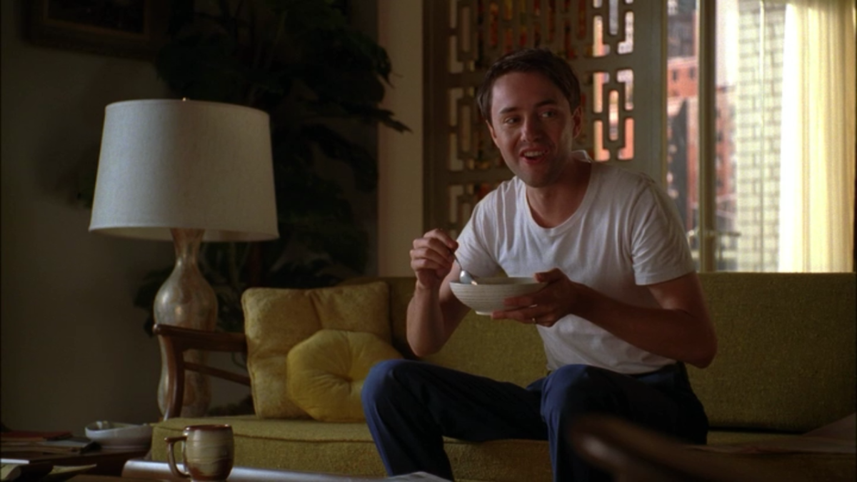 Pete Campbell laughing