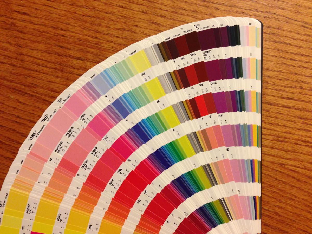 A PMS color guide.