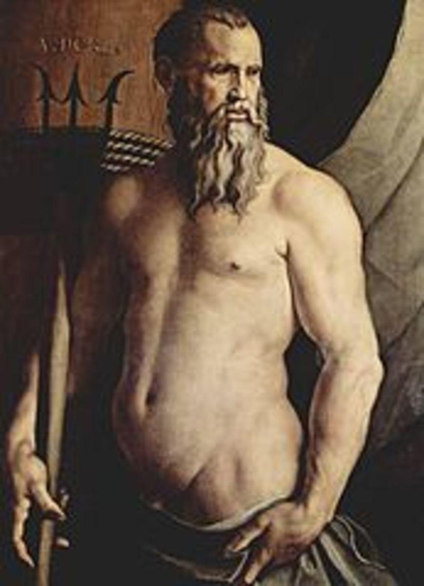 Neptune by Bronzino Circa 1540 -1550