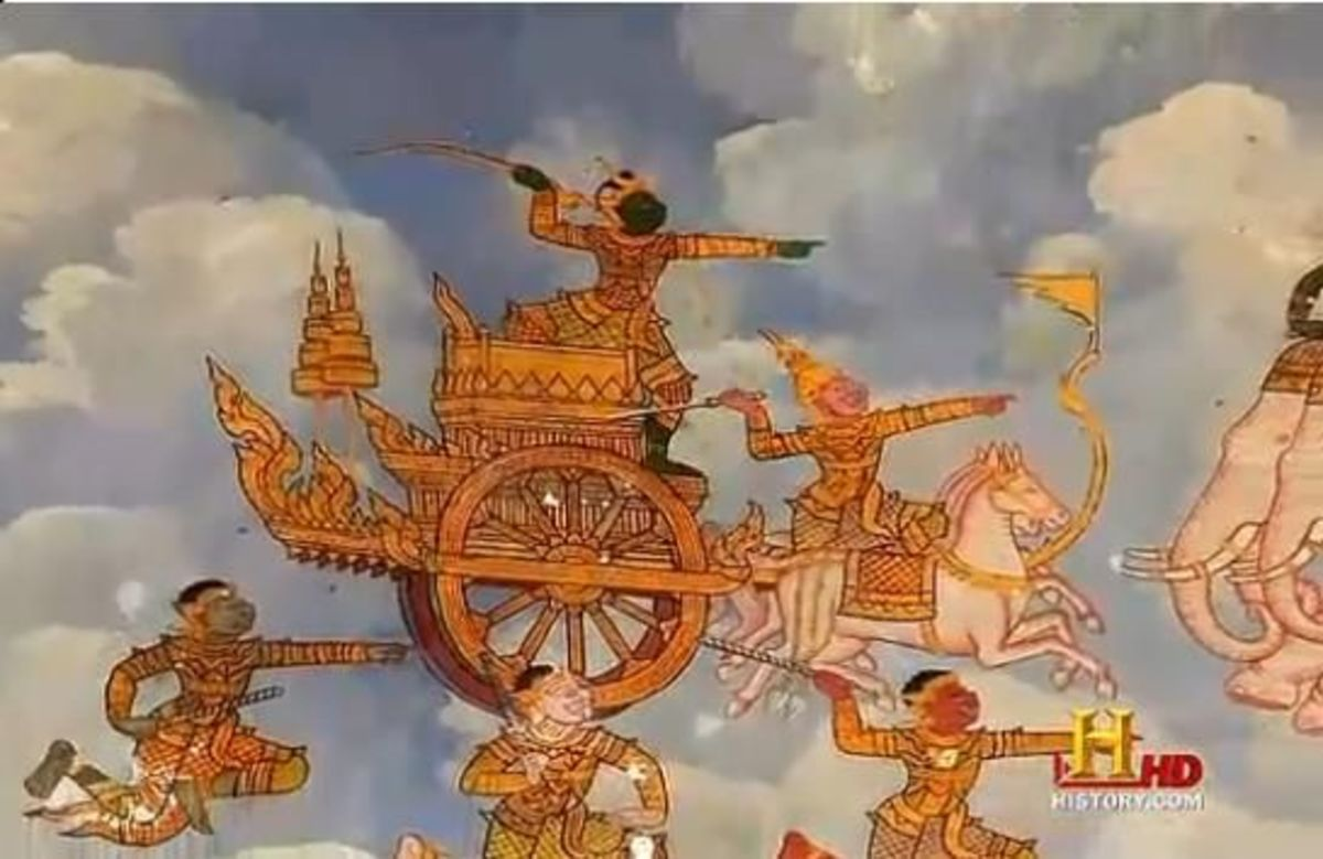 One of the many depictions of a 'Vimana' or a flying object found across most of the ancient India paintings!