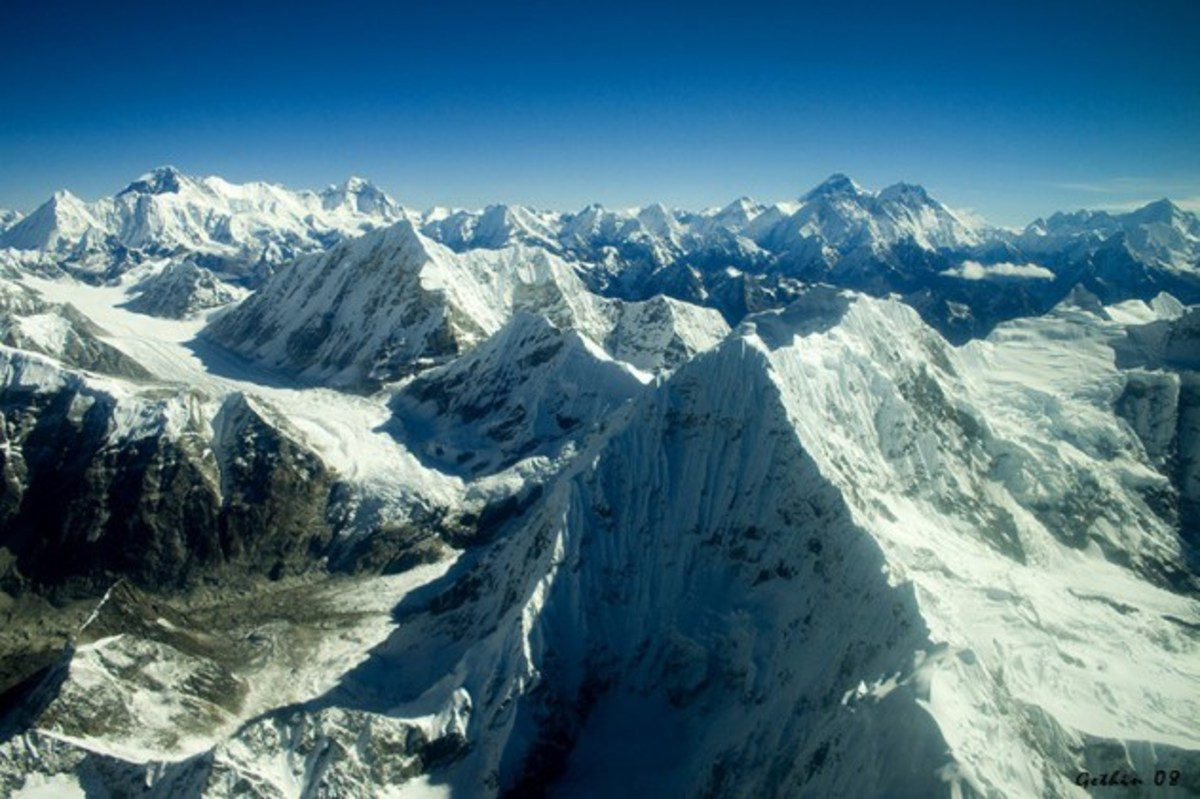 The mighty Himalayan range!