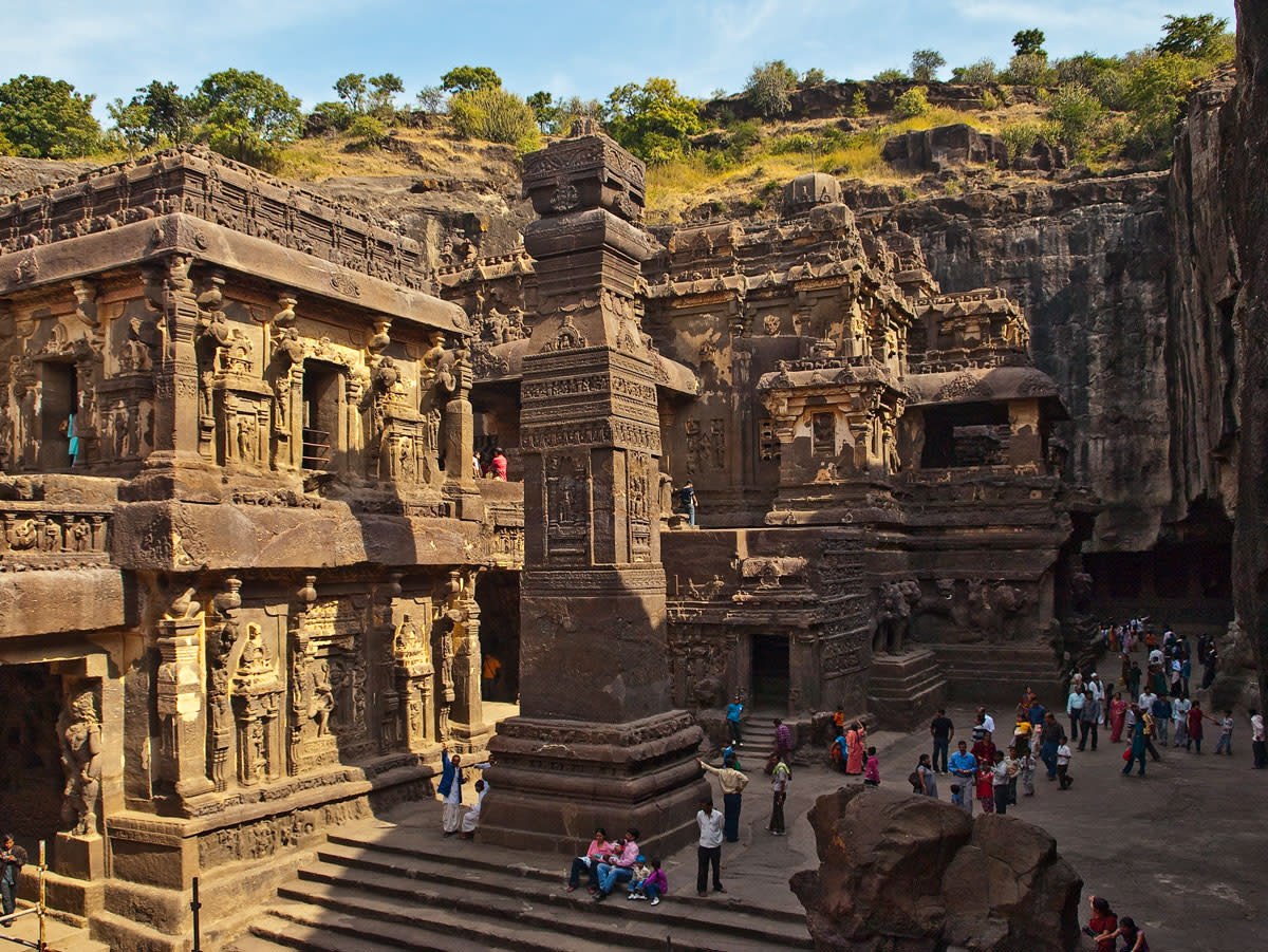 Cave-16- the Kailasa temple at Ellora Caves!