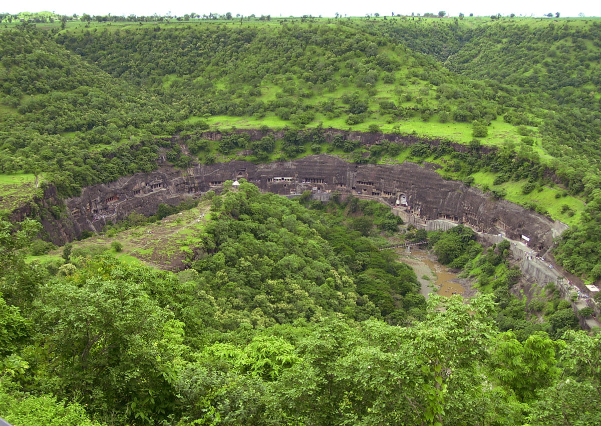 The Ajanta caves from a distance!