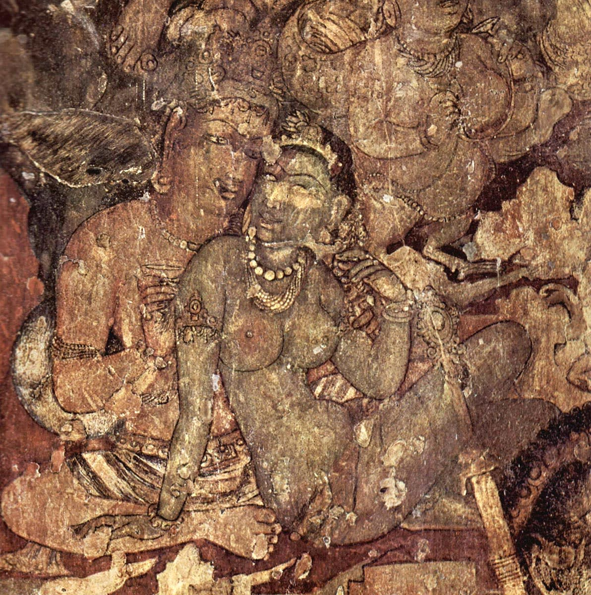 An Ajanta cave mural!