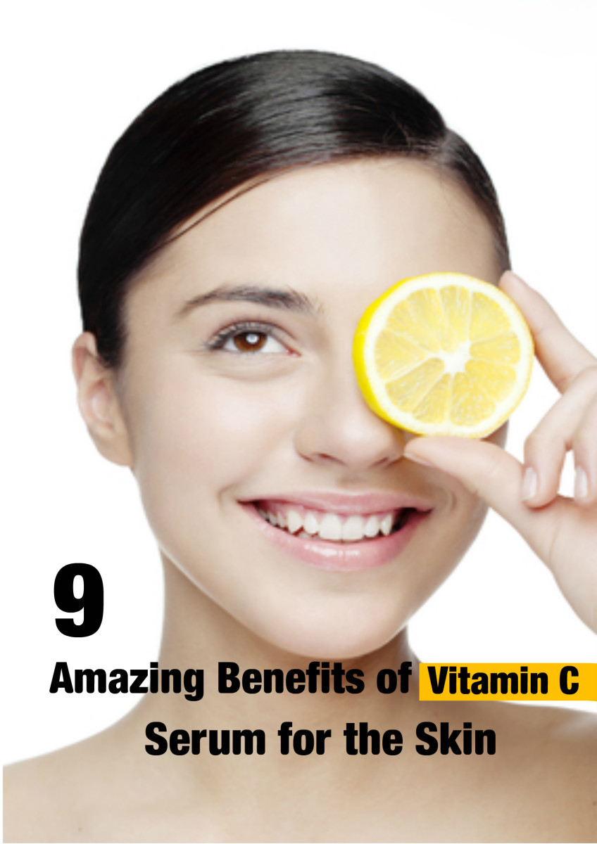 Use vitamin C serums for brighter, clearer and glowing complexion.
