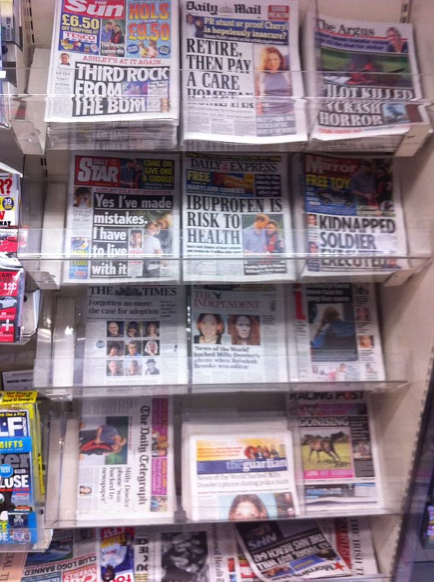 Print Tabloids. Photo: Wikipedia Commons